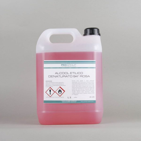 Alcool etilico denaturato 5lt rosa 94°
