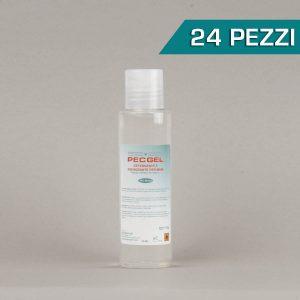 Confezione 24 pezzi Pec gel lavamani flacone cilindrico, tappo flip-top 90ml