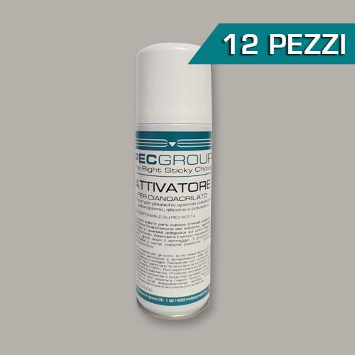 Confezione 12 pezzi attivatore per cianoacrilato spray
