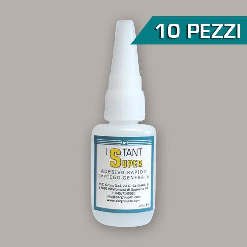 Confezione 10 pezzi adesivo etilcianoacrilato Istant Super 20gr