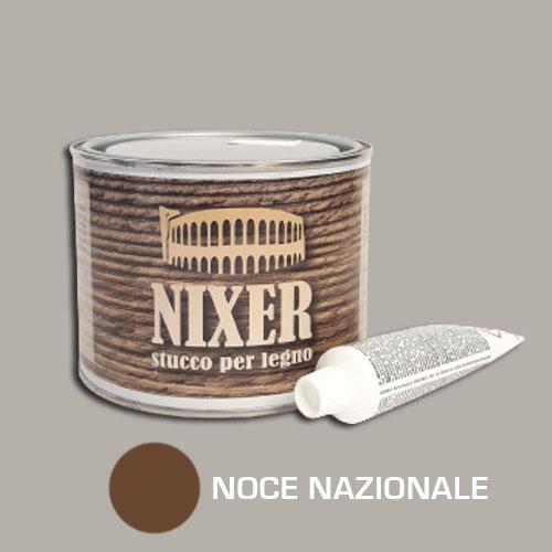 Stucco per legno noce nazionale con catalizzatore Nixer 500gr