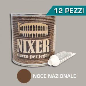 Confezione 12 pezzi stucco per legno noce nazionale con catalizzatore Nixer 750gr