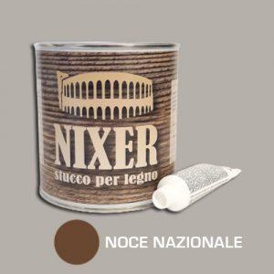 Stucco per legno noce nazionale con catalizzatore Nixer 750gr