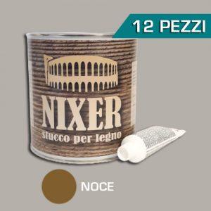 Confezione 12 pezzi stucco per legno noce con catalizzatore Nixer 750gr